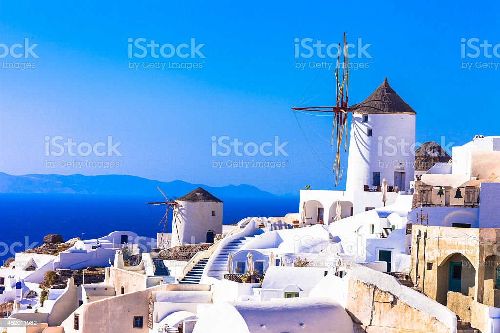 Santorini Cyclades,Island,Greece. stock photo