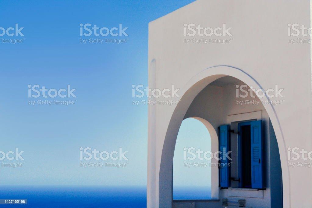 Santorini Dream House stock photo
