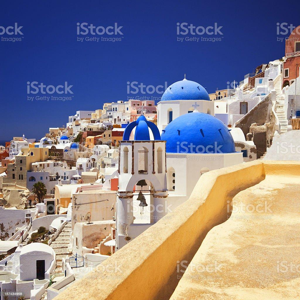 Santorini famous church stock photo