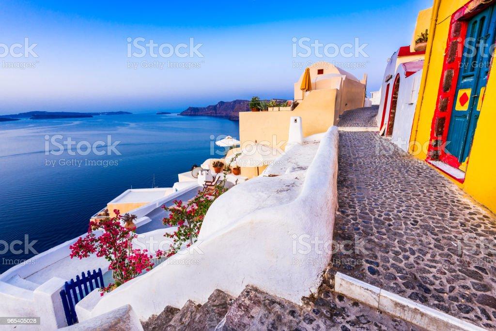 Santorini, Grèce et mer Egée - Photo de Archipel des Cyclades libre de droits
