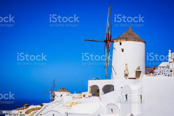 Santorin Griechenland Und Oia Windmühle Stockfoto und mehr Bilder von Architektur