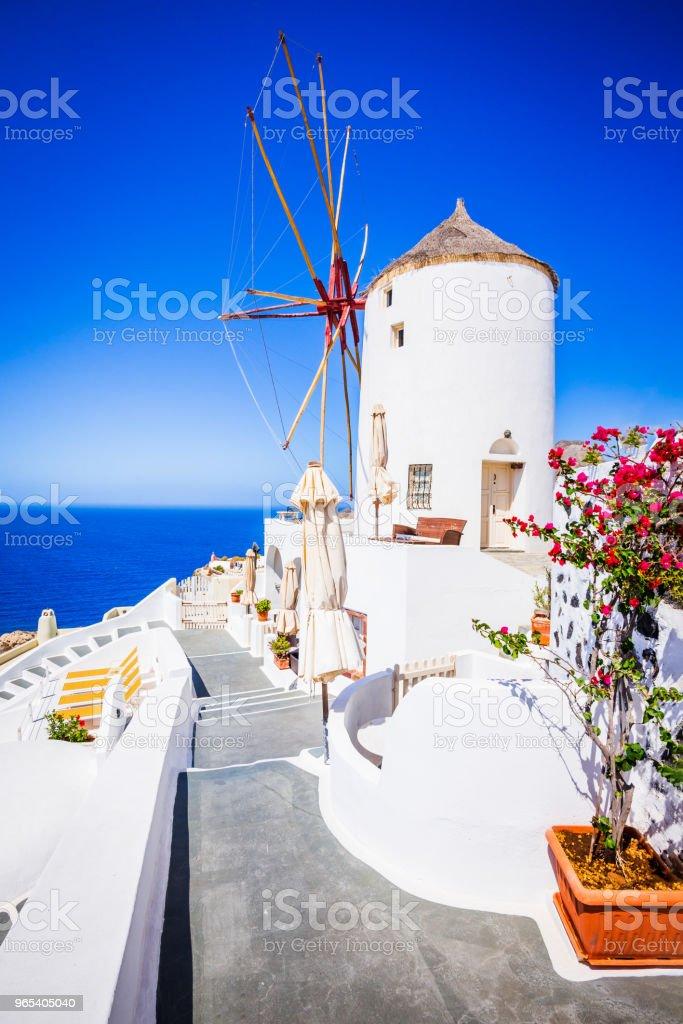 Moulin de Santorin, en Grèce et Oia - Photo de Archipel des Cyclades libre de droits