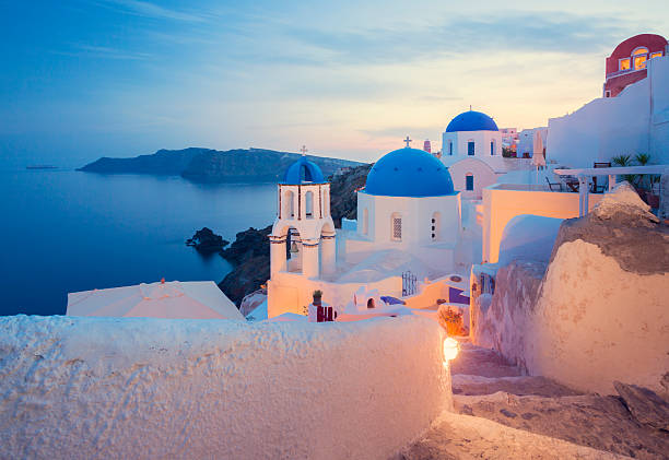 santorini, greece - santorini stock photos and pictures