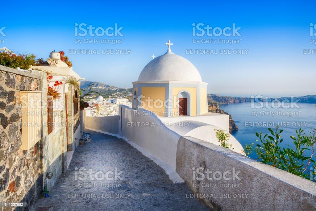 Santorini, Greece (April 2017) stock photo