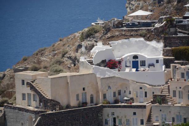 Viviendas en Santorini - foto de stock