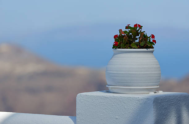 Santorini | Imerovigli village stock photo