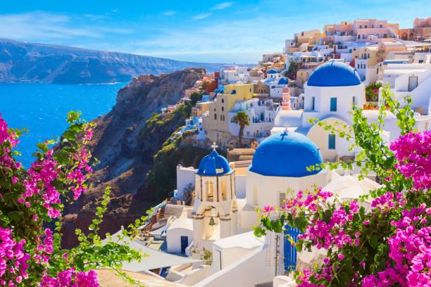 santorini island, greece. - grecja zdjęcia i obrazy z banku zdjęć