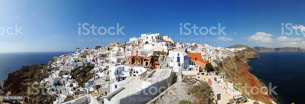 Santorini Island Panorama Photography - XXXLarge royalty-free stock photo