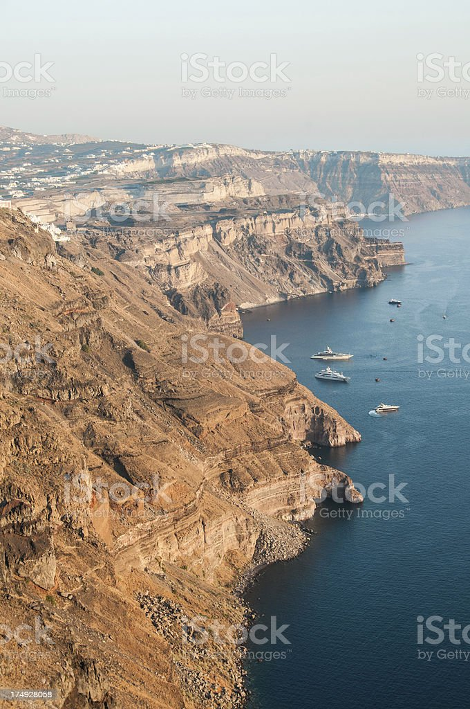 Santorini Island View of The Volcanic Caldera Cliffs royalty-free stock photo