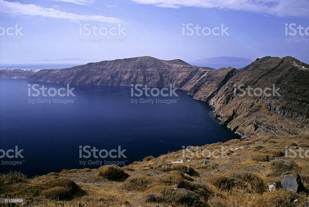 Santorini Landscape royalty-free stock photo