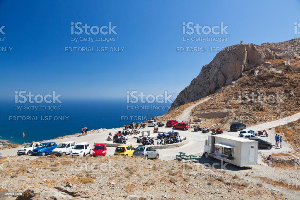 Santorini Mountains stock photo