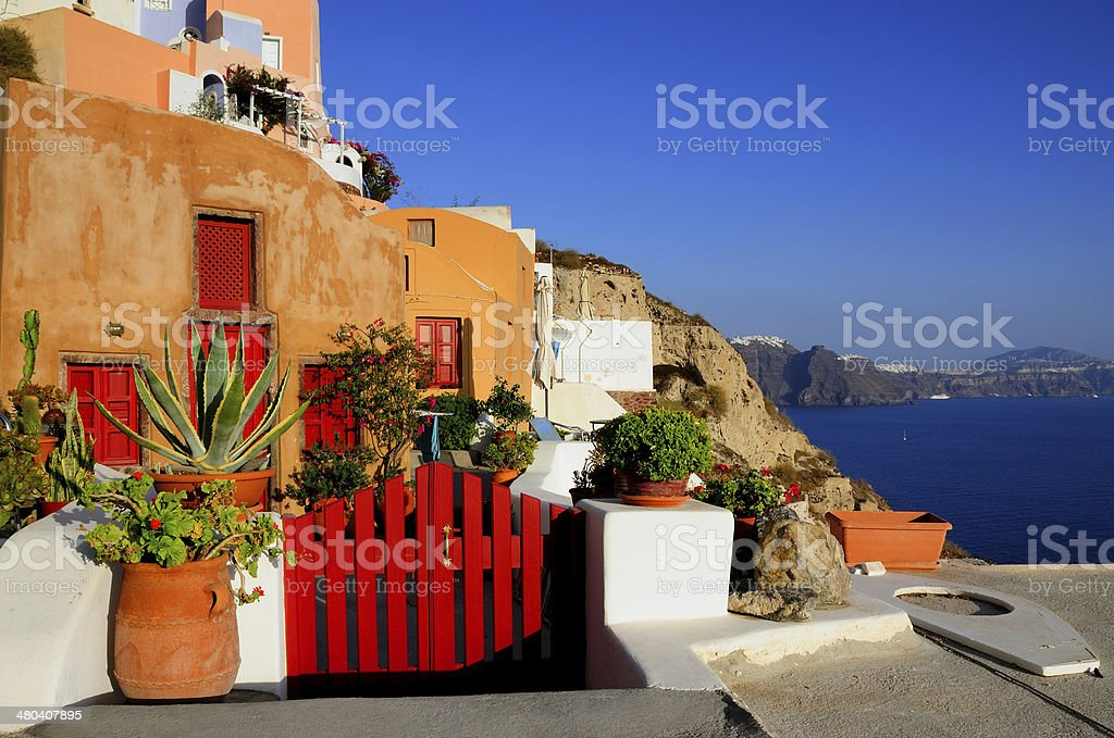 Santorini Oia stock photo