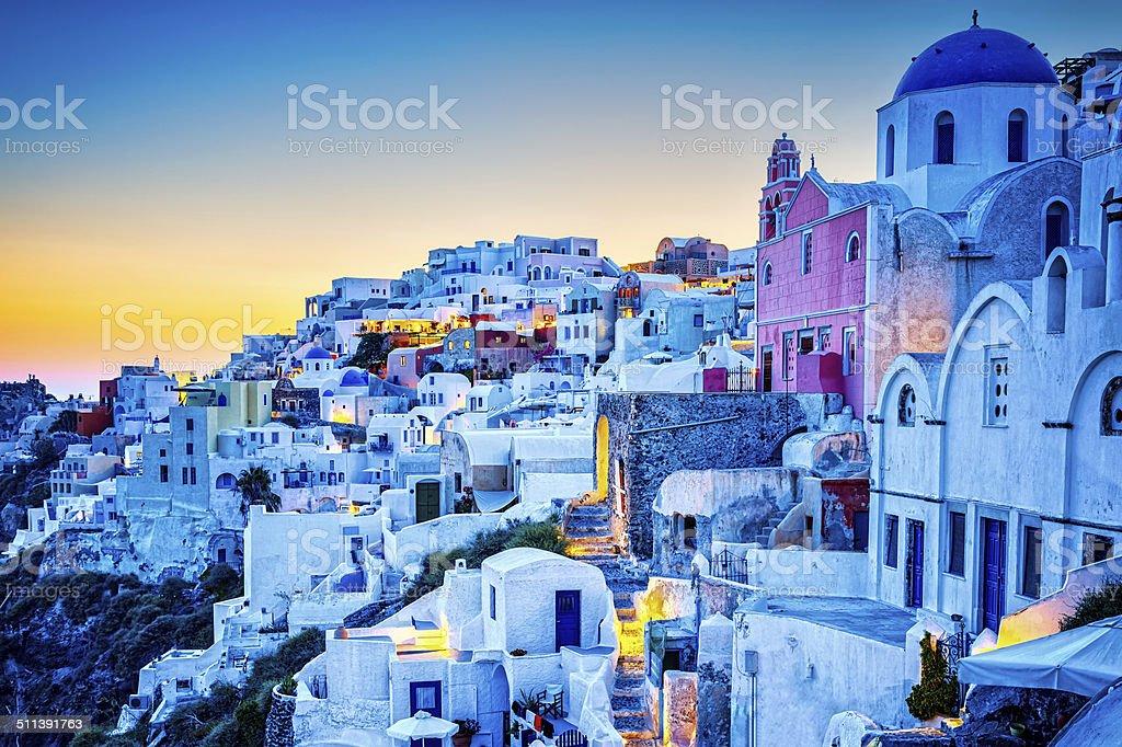 Santorini Oia village, Greece stock photo