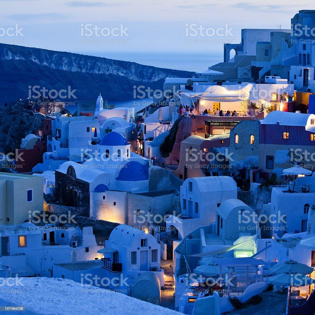 Santorini Oia village royalty-free stock photo