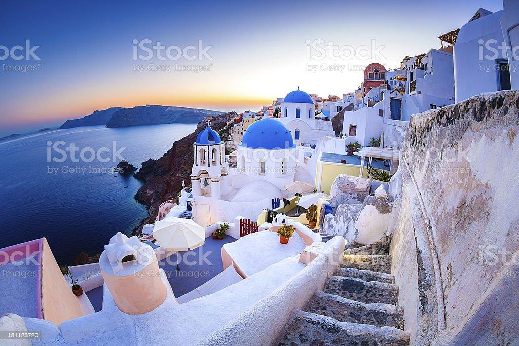 Santorini Oia village stock photo