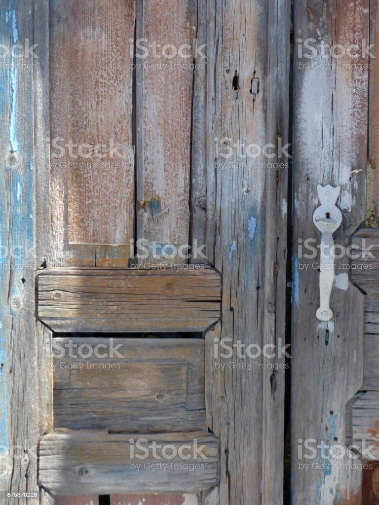 Santorini Old Door stock photo