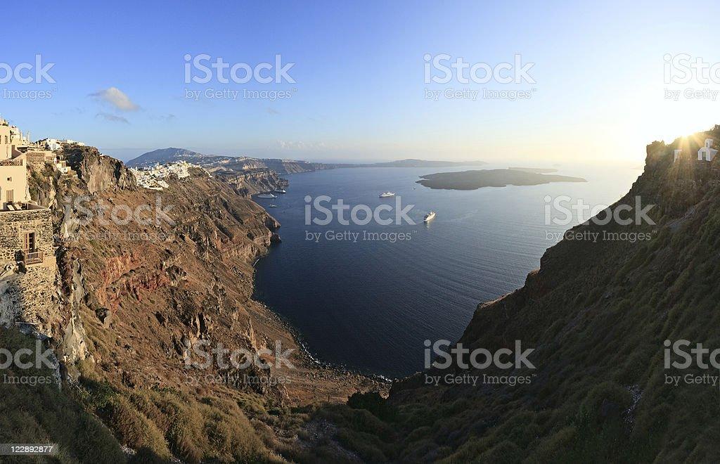 Santorini panorama stock photo