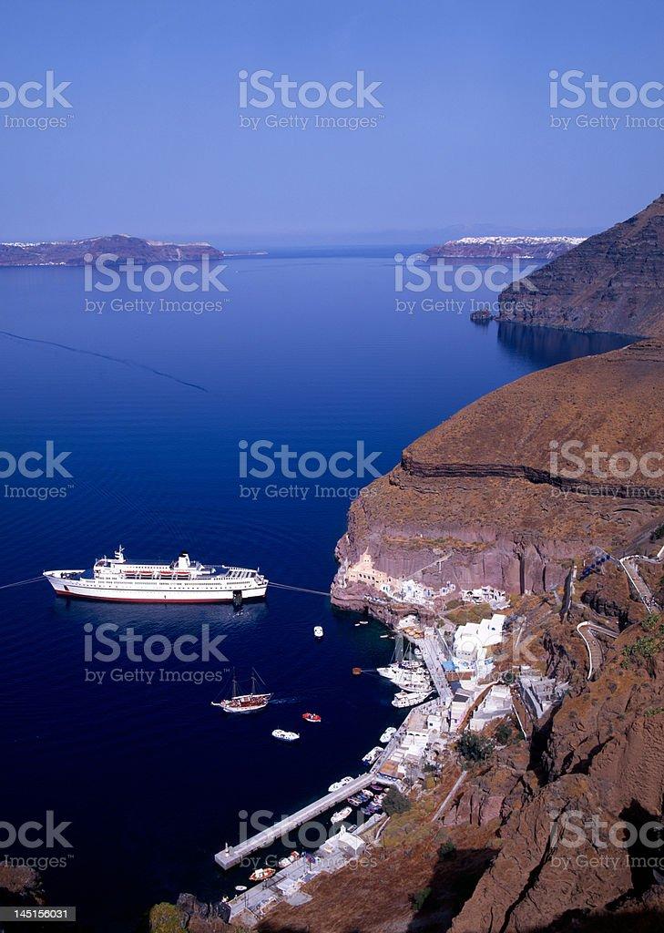 Santorini port royalty-free stock photo
