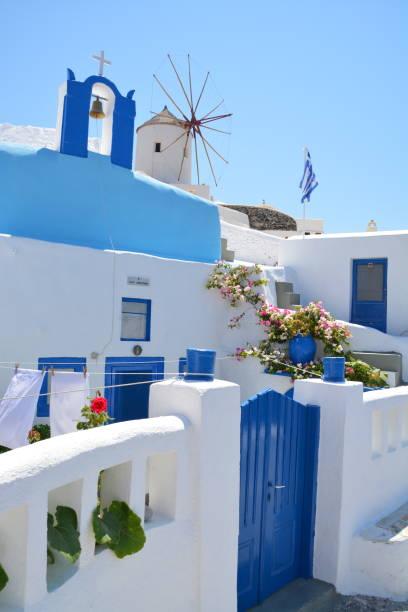 Postal de Santorini - foto de stock