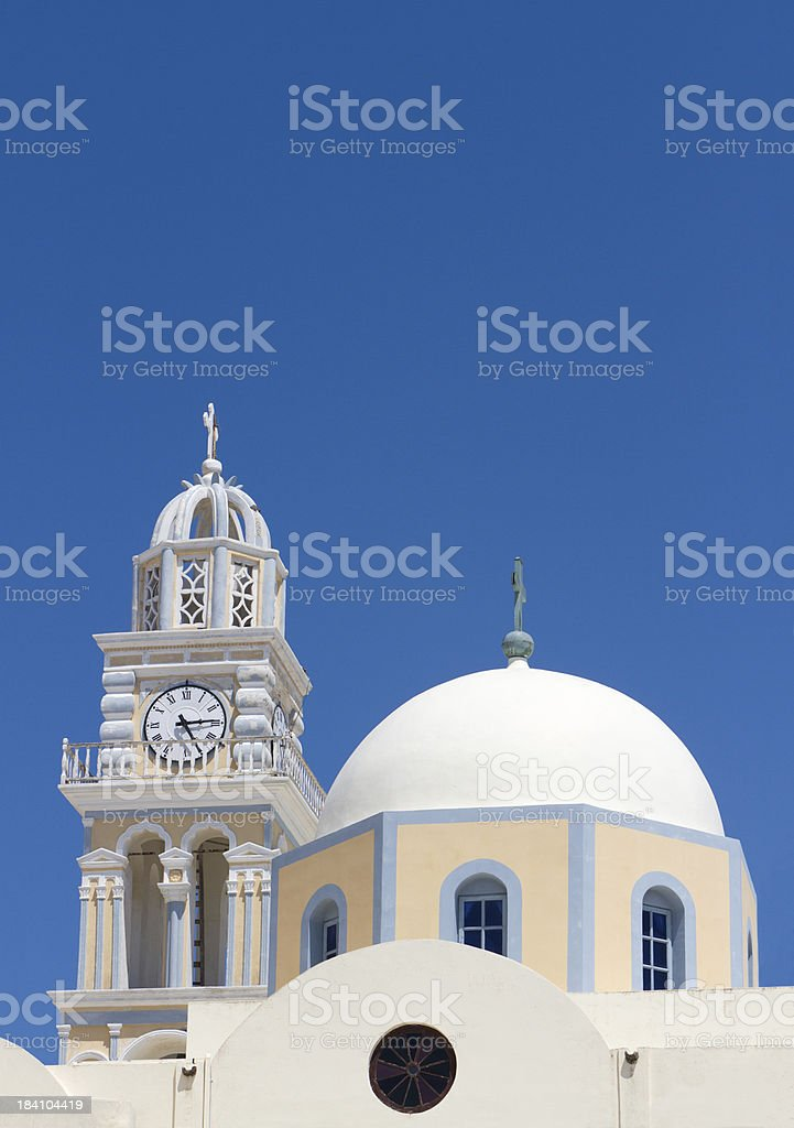 Santorini, Traditional Church royalty-free stock photo