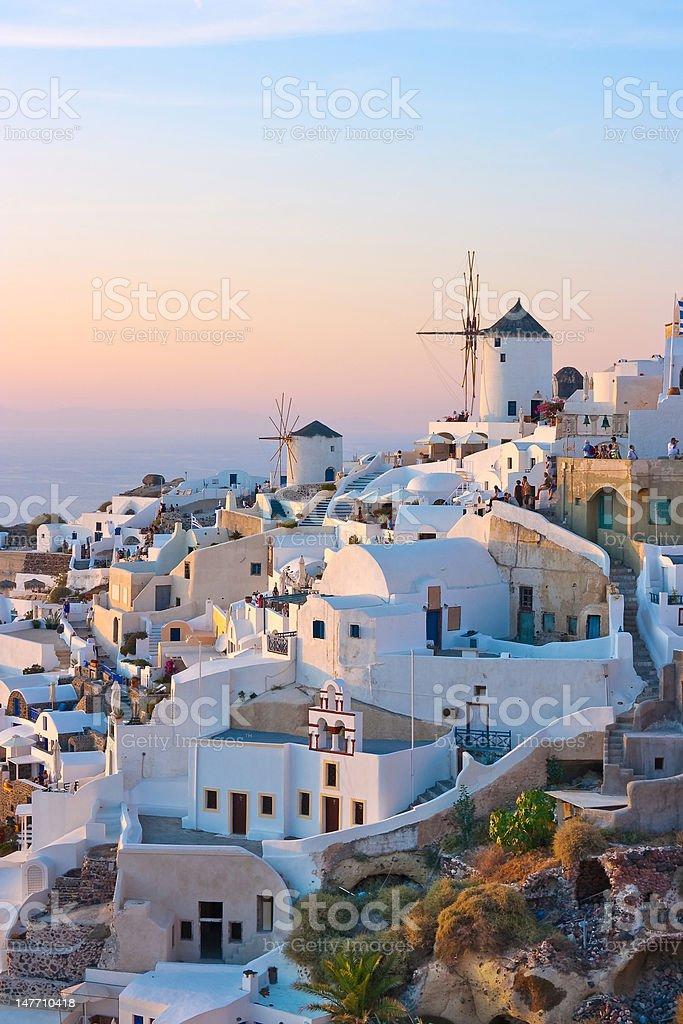 Santorini Twilight royalty-free stock photo