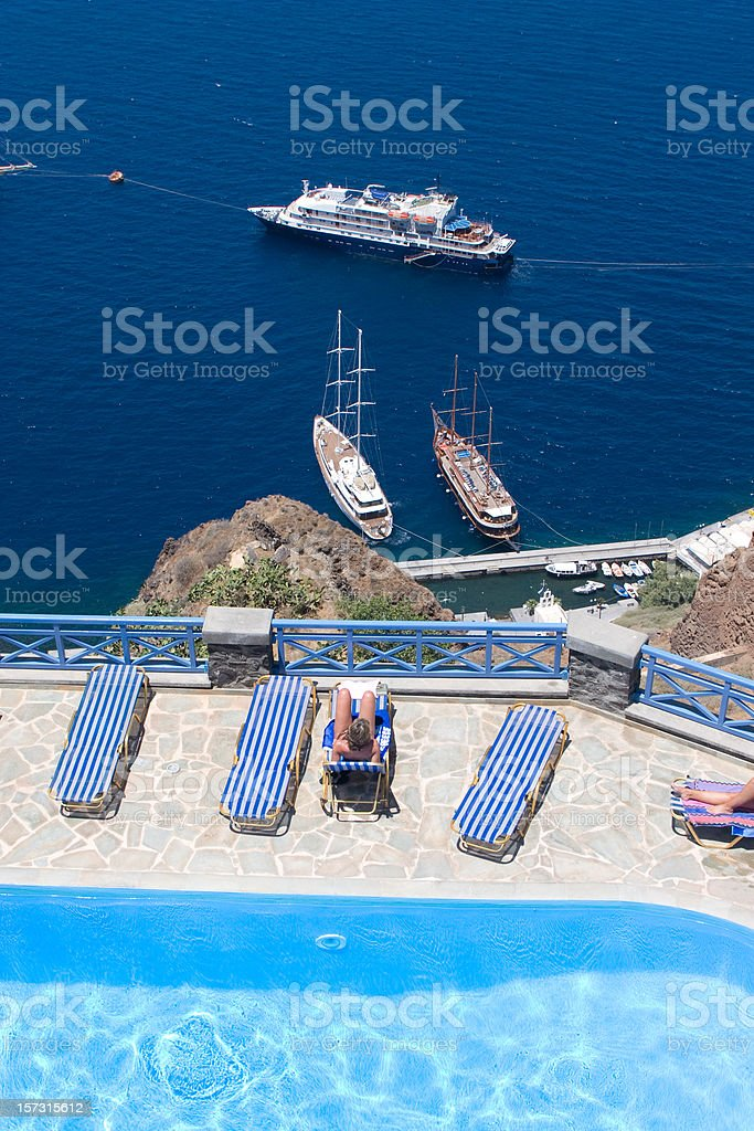 Santorini, Vacations in the Greek Islands royalty-free stock photo