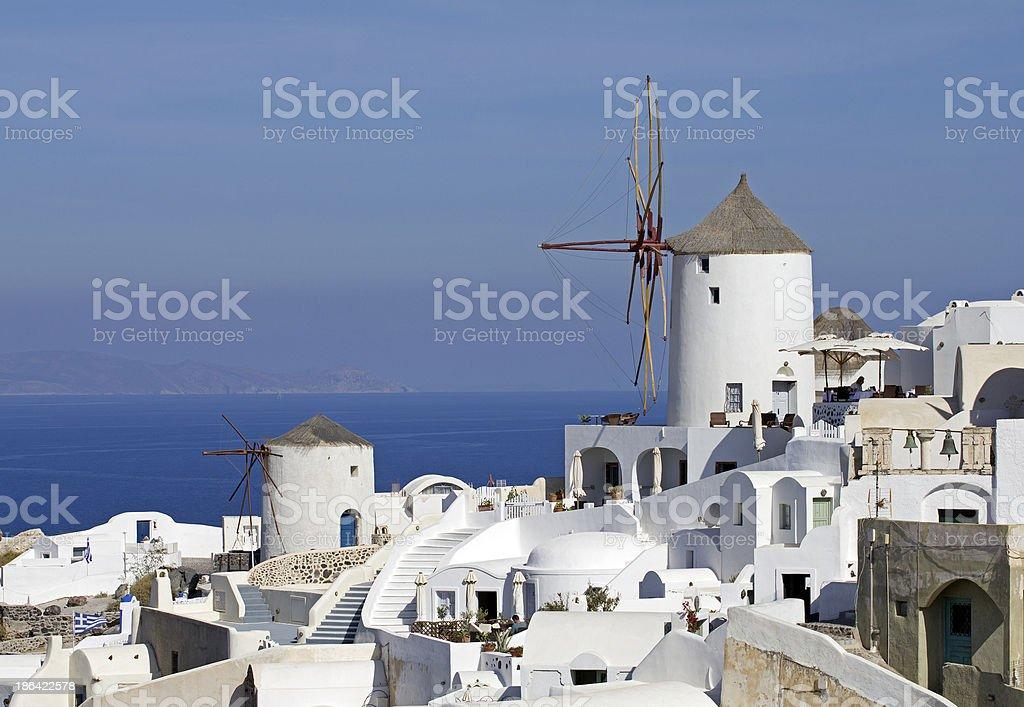 santorini windmill royalty-free stock photo