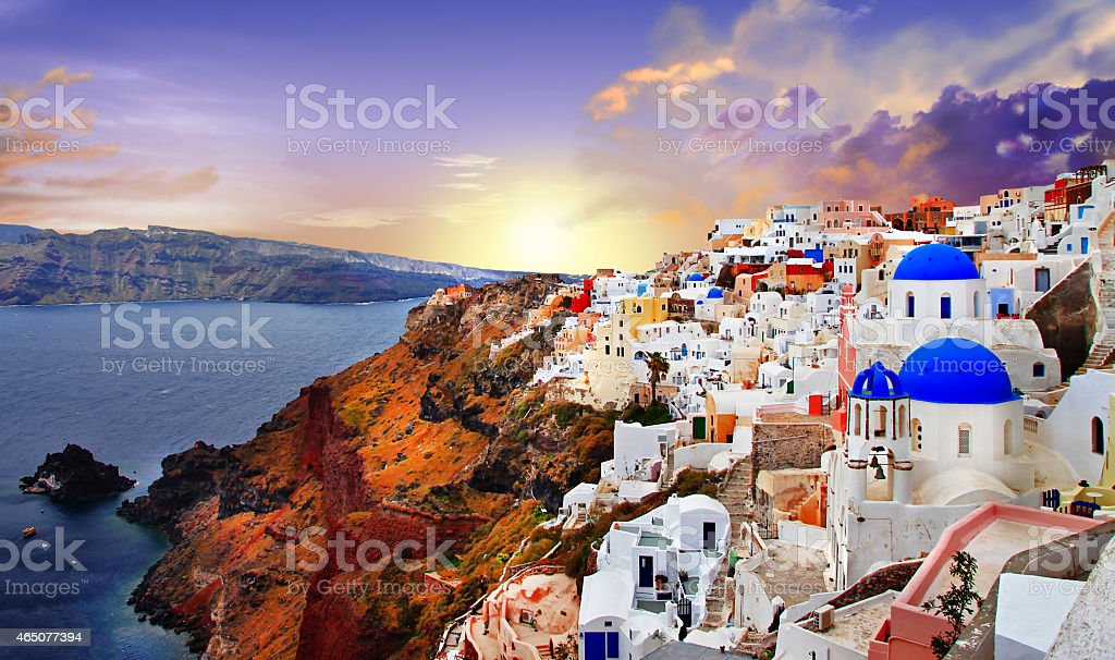 Santorini,greeke stock photo