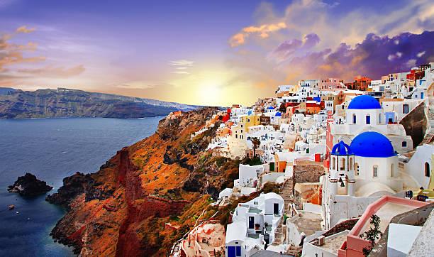 santorini,greeke - santorini stock photos and pictures