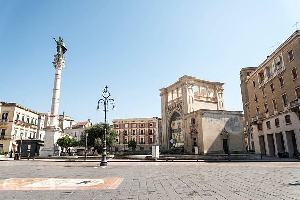 Sant'Oronzo スクエアでイタリア、レッチェ ストックフォト