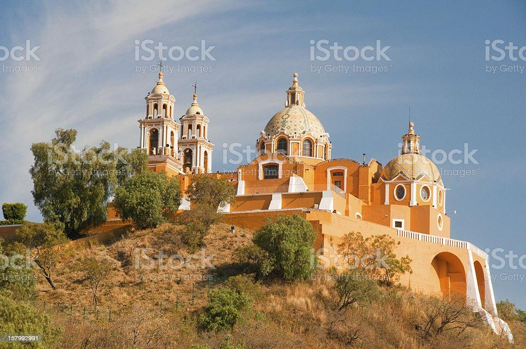 Santuario de los remedios, Cholula in Puebla (Mexico) stock photo
