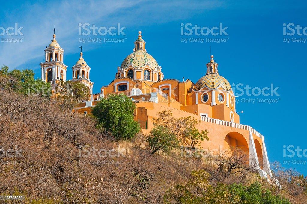 'Santuario de los remedios', Cholula in Puebla (Mexico) stock photo