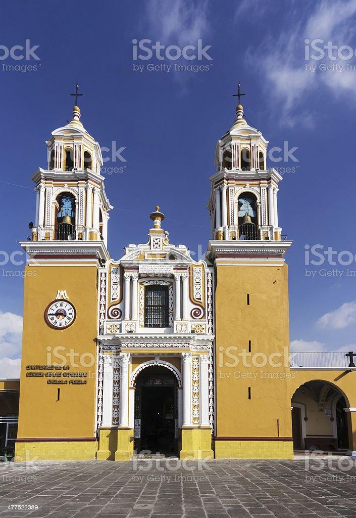 Santuario de los remedios, Cholula, Puebla Mexico stock photo