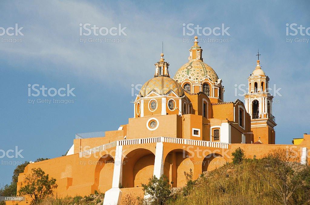 Santuario de los Remedios, Choula in Puebla Mexico stock photo