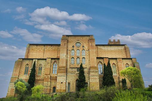 Santuario di Santa Caterina in summer. Italy, Tuscany, Siena: Sanctuary di santa Caterina.