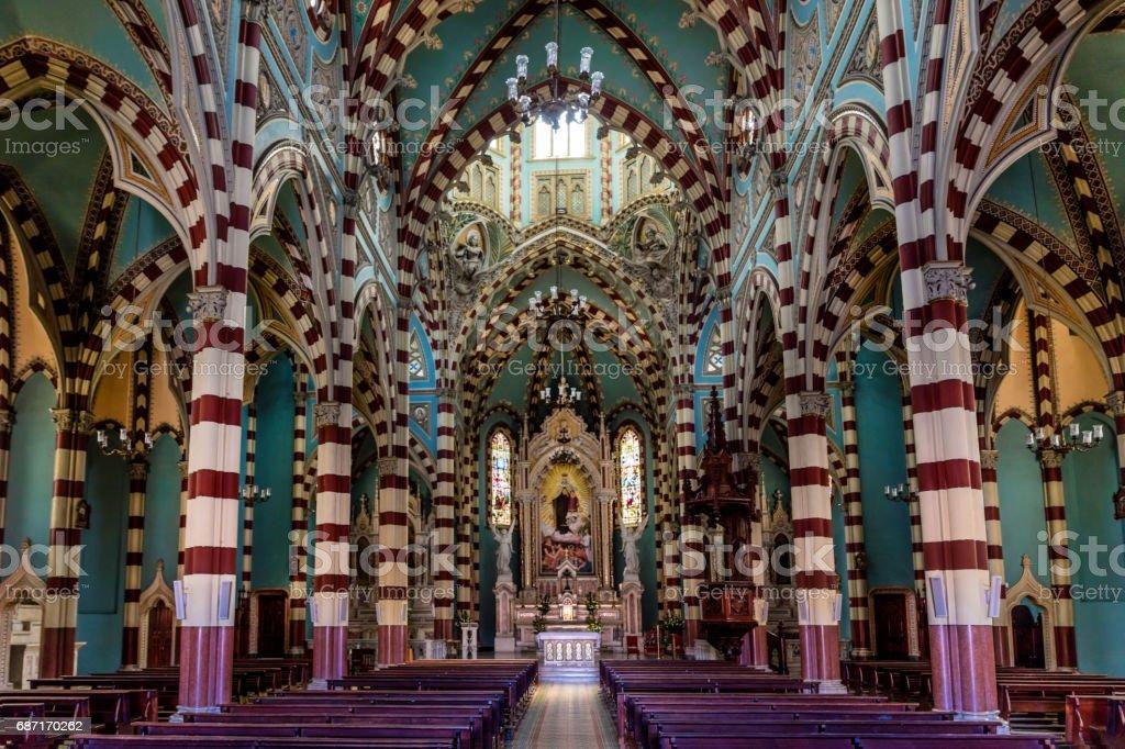 Santuario Nuestra Senhora del Carmen La Candelaria Bogota Colomb stock photo