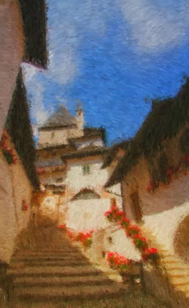 Santuario San Romedio, Trentino - foto stock