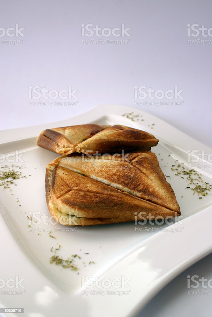 Sanwiches on the plate royalty-free stock photo