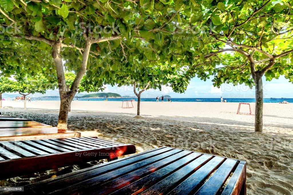 Sanya beach views stock photo