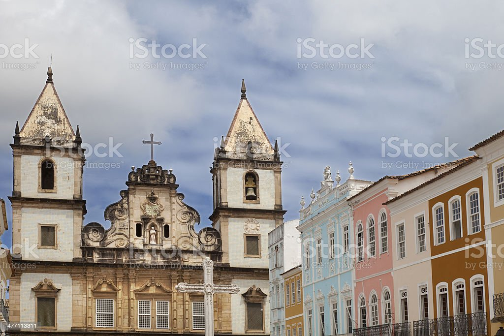 Sao Francisco Church in Salvador Bahia royalty-free stock photo