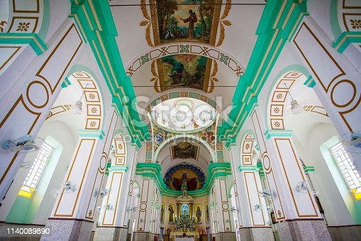 Inside one of the most populars church in Brazil located in the religious city of Caninde, in the State of Ceara