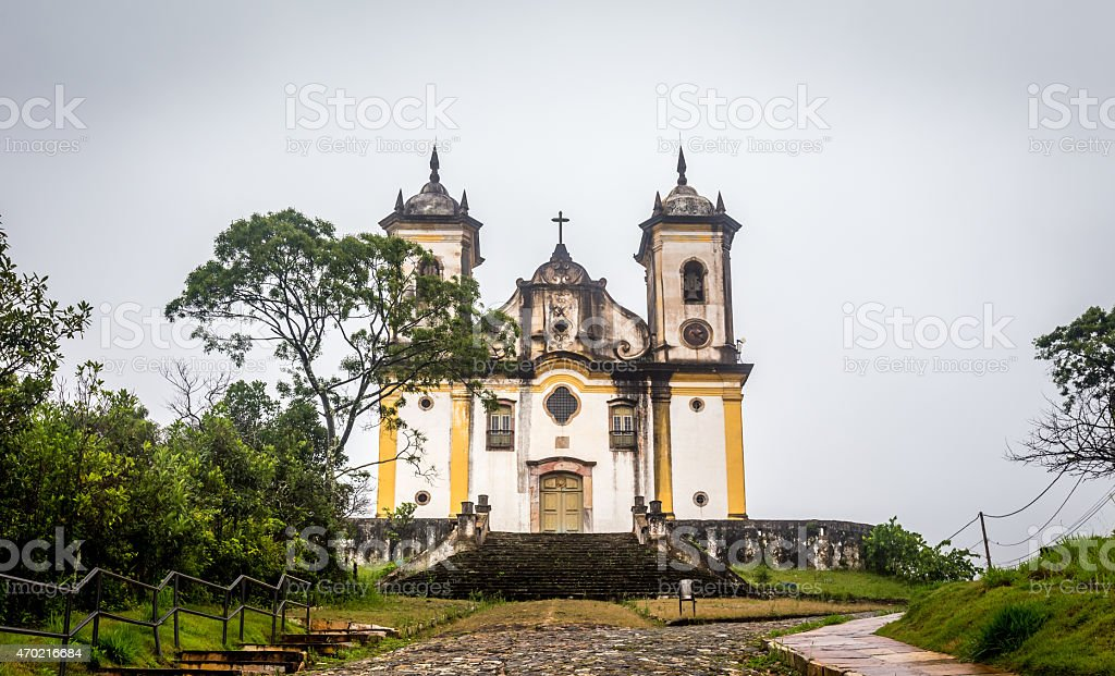 Sao Francisco De Paula Church ,ouro preto in brazil stock photo