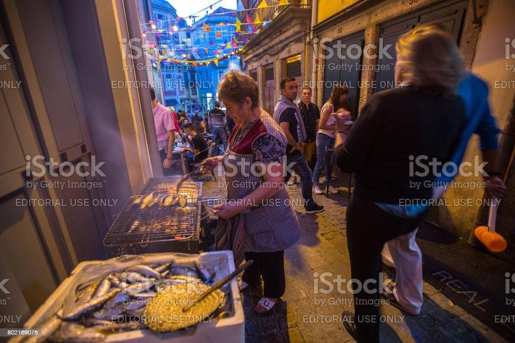 Sao Joao Festival in Porto stock photo