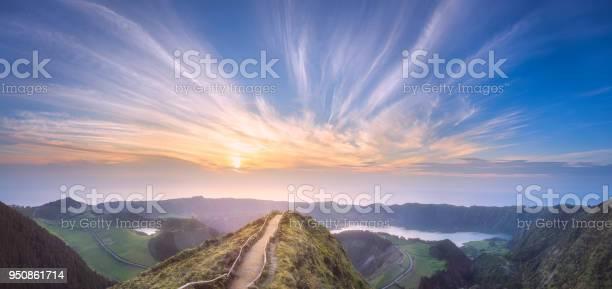 Photo of Sao Miguel Island and lake Ponta Delgada, Azores