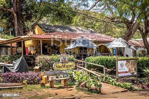 istock Sao Miguel Restaurant at Flamboyant Square - Fernando de Noronha, Pernambuco, Brazil 879801964