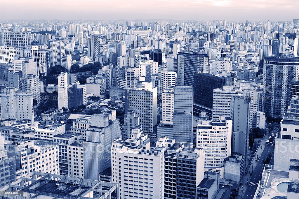 Sao Paulo, a large city royalty-free stock photo