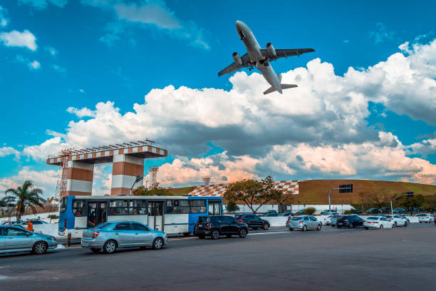são paulo, brasil | cgh-aeroporto de congonhas - aeroporto de congonhas - fotografias e filmes do acervo
