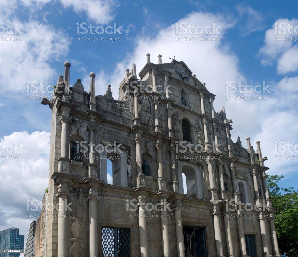 Sao Paulo Church Saint Paul's Cathedral in Macau stock photo