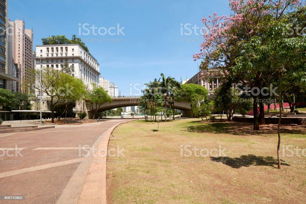 Sao Paulo city in Brazil. stock photo