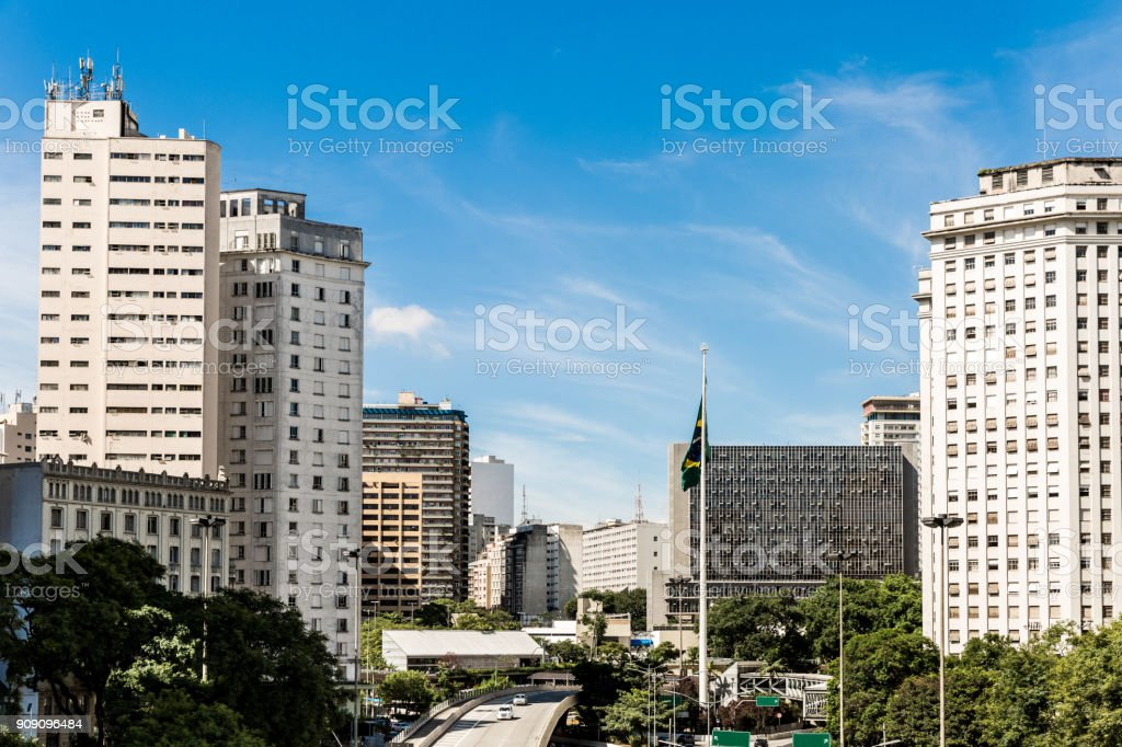 Sao Paulo city in Brazil stock photo